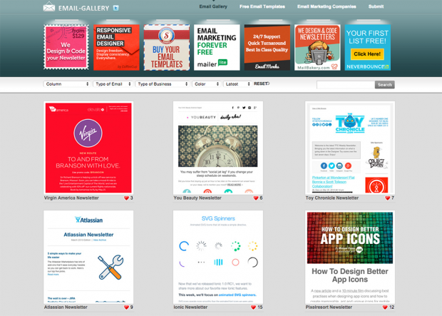 Email newsletter inspiration hand picked by mailchimp for Newsletter design inspiration