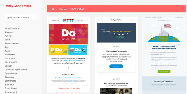 Email Newsletter Inspiration HandPicked By MailChimp - Mailchimp template tags