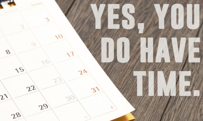 how to make time for your side projects