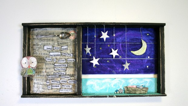 Learn about the supplies you need to create this mixed media art piece on the CreativeLive blog.