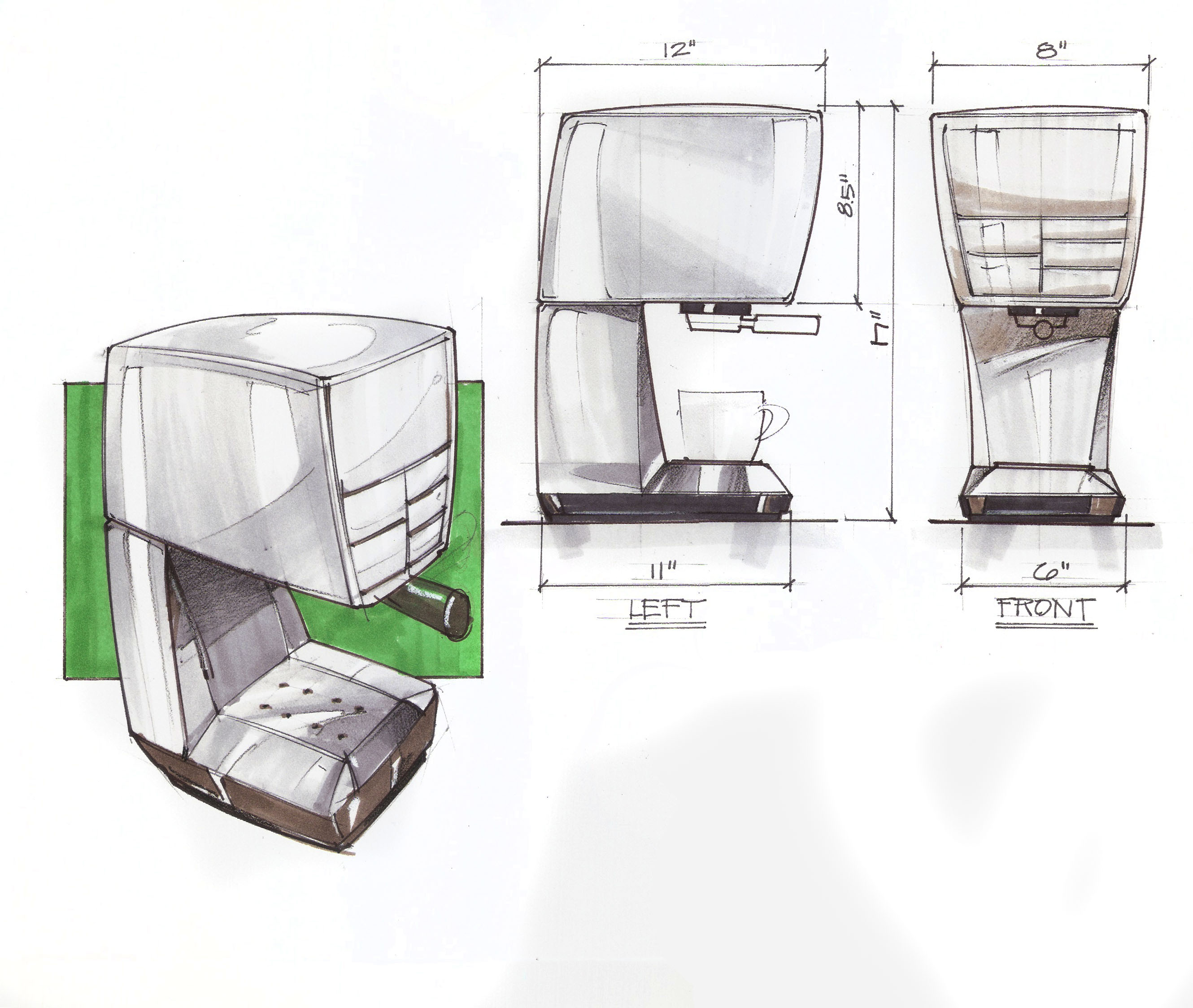 Coffee Maker Design Problem : 5 Exercises To Help You Learn To Draw Perspective