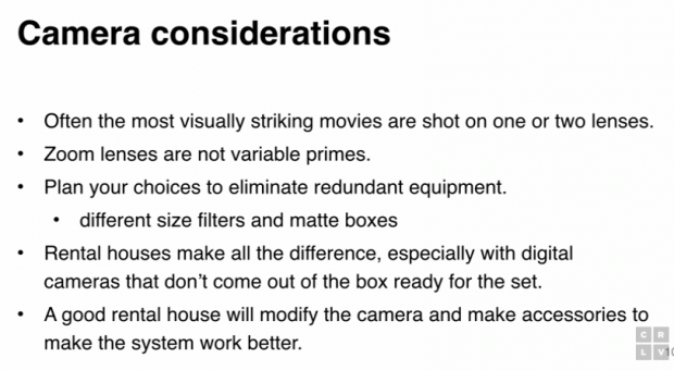 picking the best camera to shoot a movie