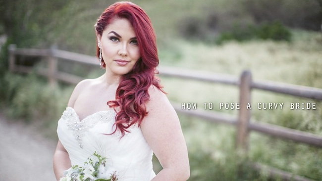 How to pose a curvy bride from Jasmine Star