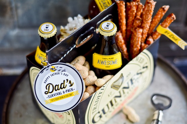 free father s day printables dad s survival 6 pack