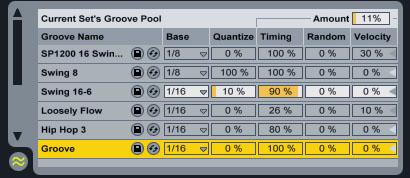 cretive live ableton groove pool