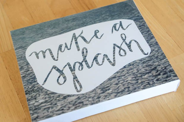 How to Make a DIY Hand Lettered Stitched Photo Canvas on CreativeLive Photo 4