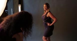 Posing Full Figure Woman
