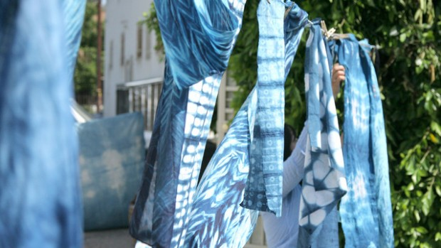 Learn how to make your own indigo dye: http://blog.creativelive.com/shibori-dyeing-how-to-prepare-an-indigo-dye-vat