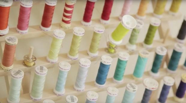 Inspiring Craft Rooms! Christine Haynes shows off her sewing studio http://blog.creativelive.com/studio-tour-christine-haynes/