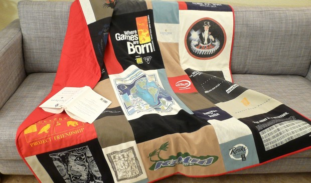 Learn how to to make T-Shirt quilts on CreativeLive! https://www.creativelive.com/courses/t-shirt-quilting-warm-your-life-story-diane-gilleland