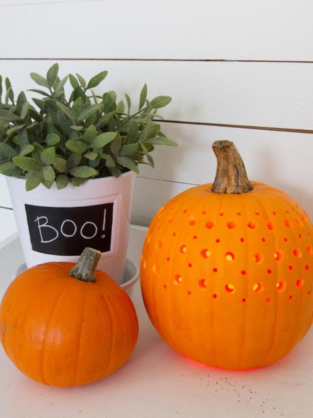 Pumpkins power drills creative jack o lantern ideas