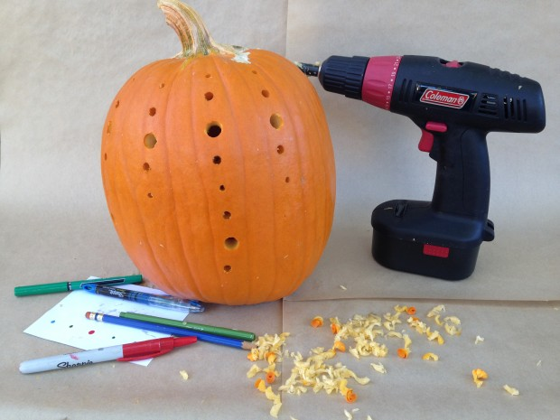 Jack-O-Lantern ideas with a power drill