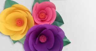 how to make a paper flower easy