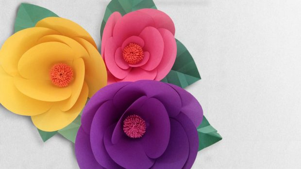 How to make a paper flower easy video guide how to make a paper flower easy mightylinksfo