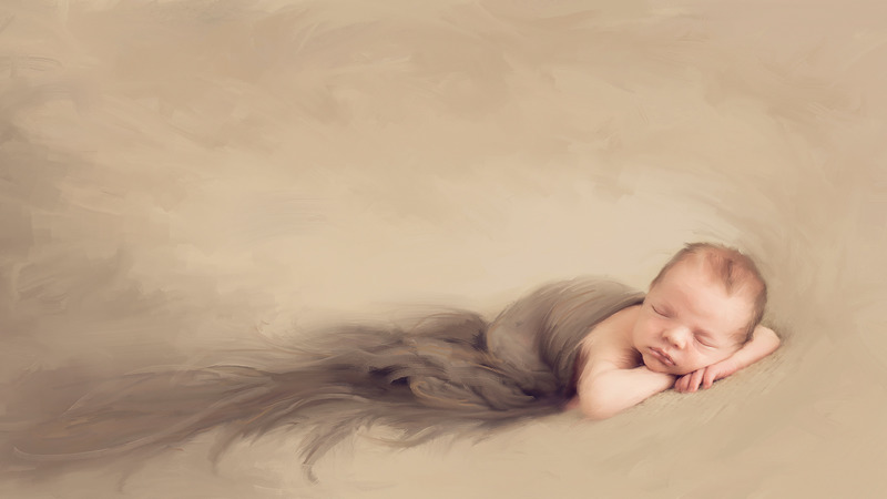 Props for newborn photography video tutorial