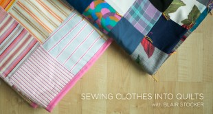 Sewing Cloths into Quilts