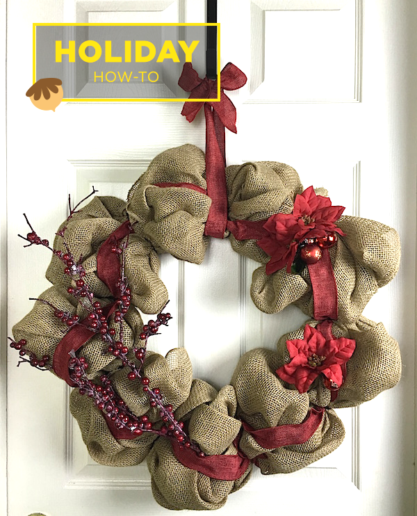 How to make a burlap wreath amazing diy gift idea for Burlap wreath with lights