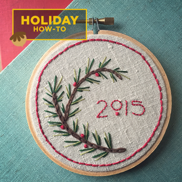 DIY Gift Idea Holiday Embroidery Sampler