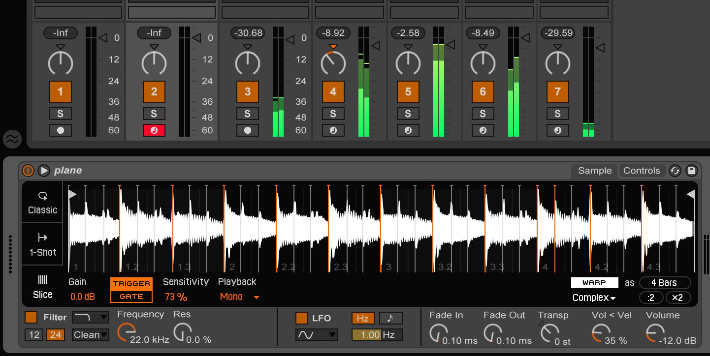 Ableton Live 9.5 Simpler Slicing Mode