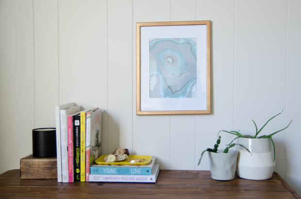 Diy Gift Idea Marbled Print In A Gilded Frame