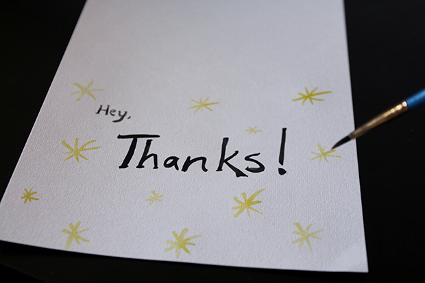 Use Watercolor To Make Diy Thank You Cards
