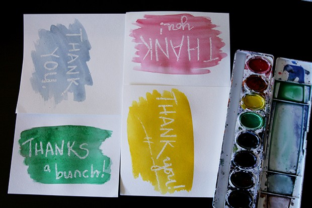 Make your own DIY watercolor thank-you cards with tips from CreativeLive.