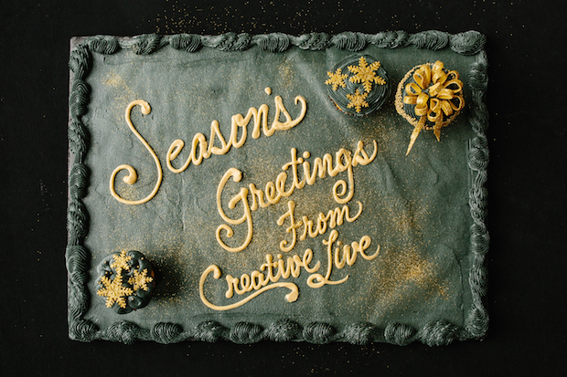 Season's Greetings Cupcake Image