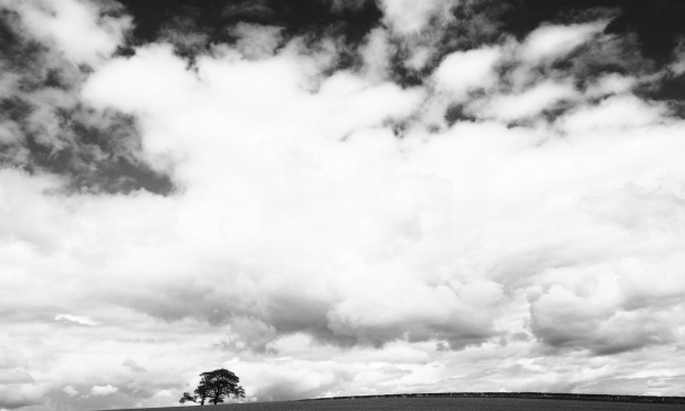 black and white landscape photo of clouds