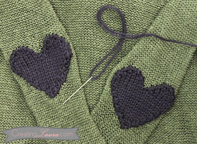 elbow patch template - valentine s day craft projects for yarn lovers