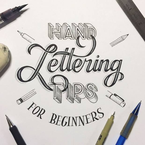 this hand lettering for beginners guide will give you 5 tips for getting started from