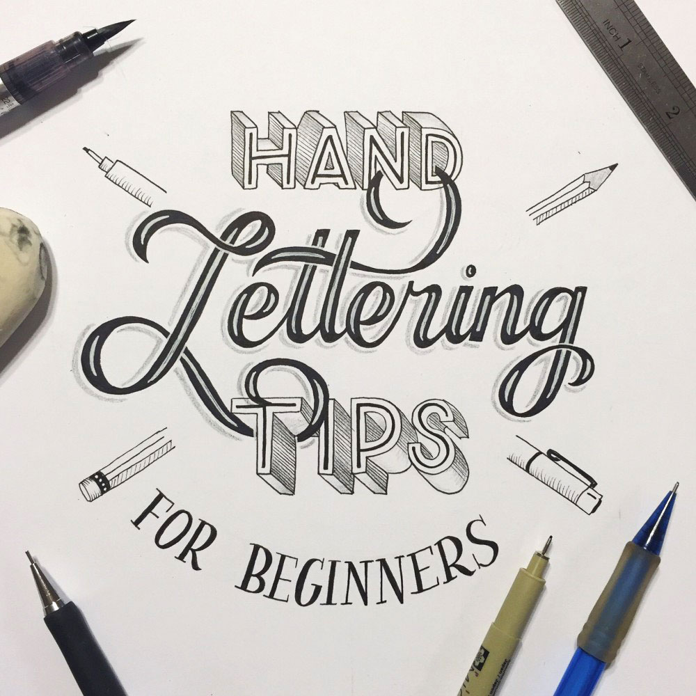 how to do hand lettering lettering for beginners a guide to getting started 22275 | 1 Hand Lettering Tips e14527149383791