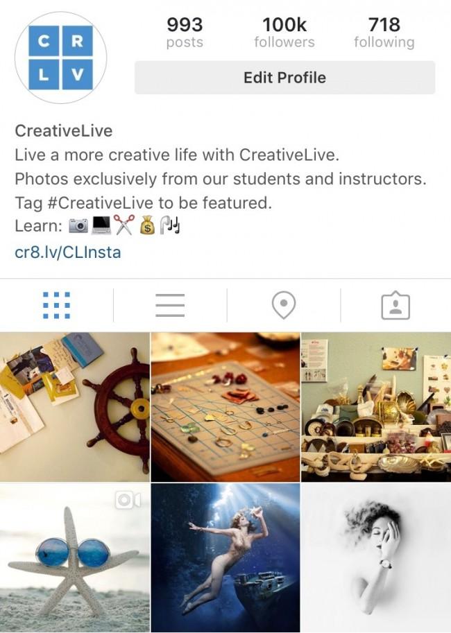 CreativeLive Instagram