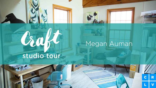 Check out Megan Auman's inspiring workspace in her Craft Studio Tour on CreativeLive.