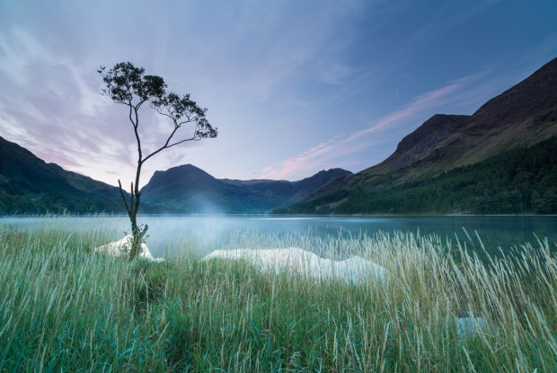 Photographed before sunrise at Buttermere in the Lake District.