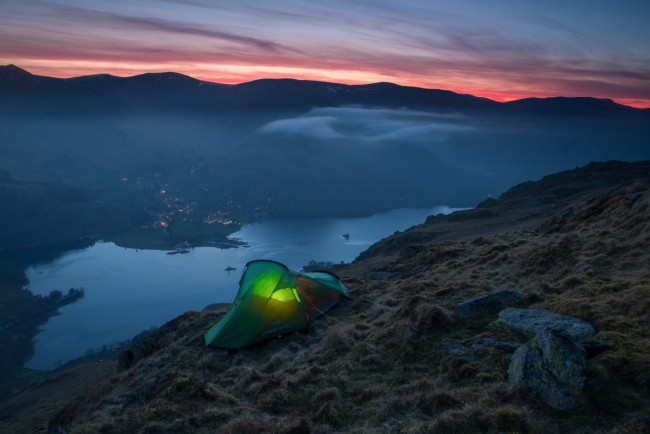 One way of enjoying nature and being able to witness magical scenes is to camp out on location. This allows you to photograph the sunset, night sky and sunrise, all from the comfort of your own tent.