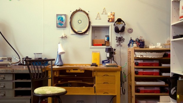Jewelry Studio Tour: Where the work happens at Foamy Wader.