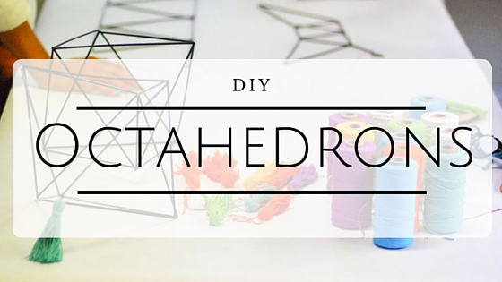 Make your a DIY himmeli mobile with the octahedron tutorial on the CreativeLive blog.