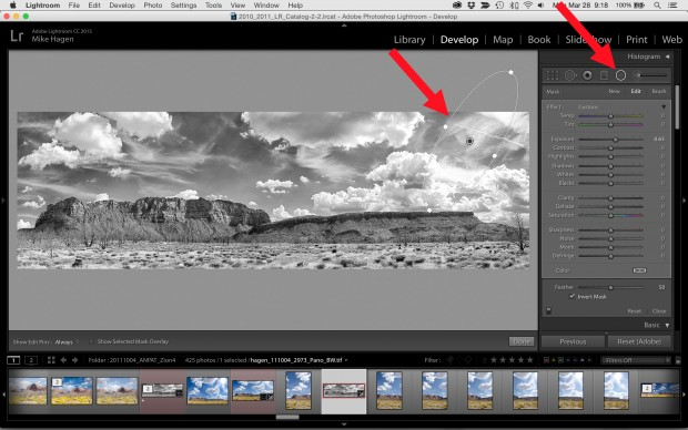 Using Selective Tools in Lightroom CC to Finish Panoramas