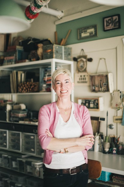 Meet Molly Meng and take a look around her antique-filled art studio.