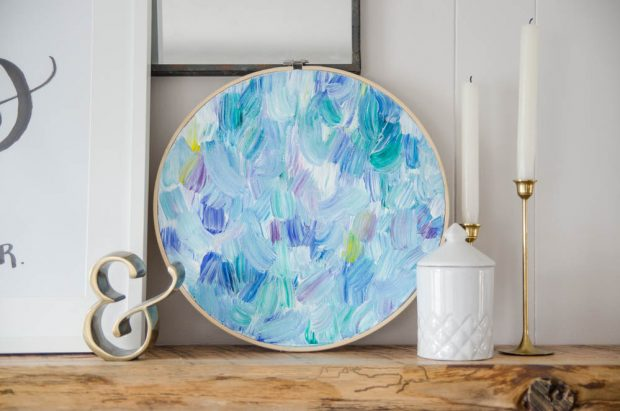 Get tips on using acrylic paints to create totally unique embroidery hoop art on the CreativeLive blog.