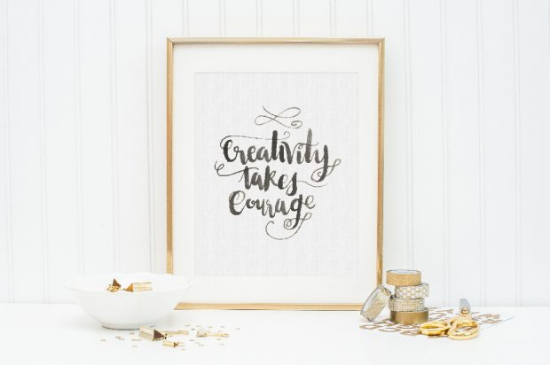 Creativity takes courage! We've got a post on hand lettering for beginners that will embolden you to explore!