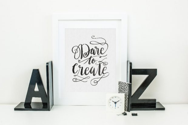 Dare to Create! We've got a post on hand lettering for beginners that will embolden you to explore!