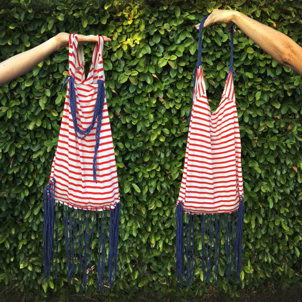 Learn how to turn an old t shirt into a perfect summer bag on the CreativeLive blog.