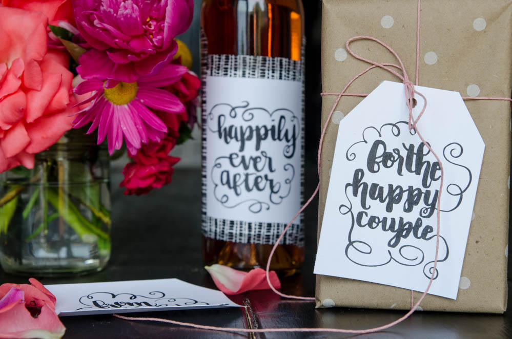 Add A Handmade Touch With Brush Lettered Wedding Gift Tags