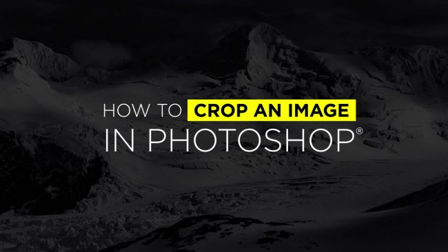 How to Crop in Photoshop Video Tutorial
