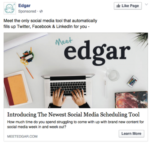 How to Increase Facebook Marketing Conversion Rates with Thematically Matched Images MeetEdgar
