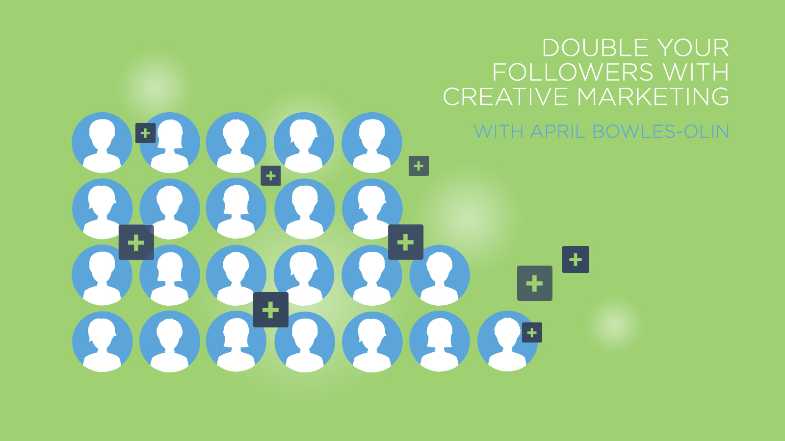 Double your online followers using creative marketing techniques. Check out the complete class on CreativeLive.