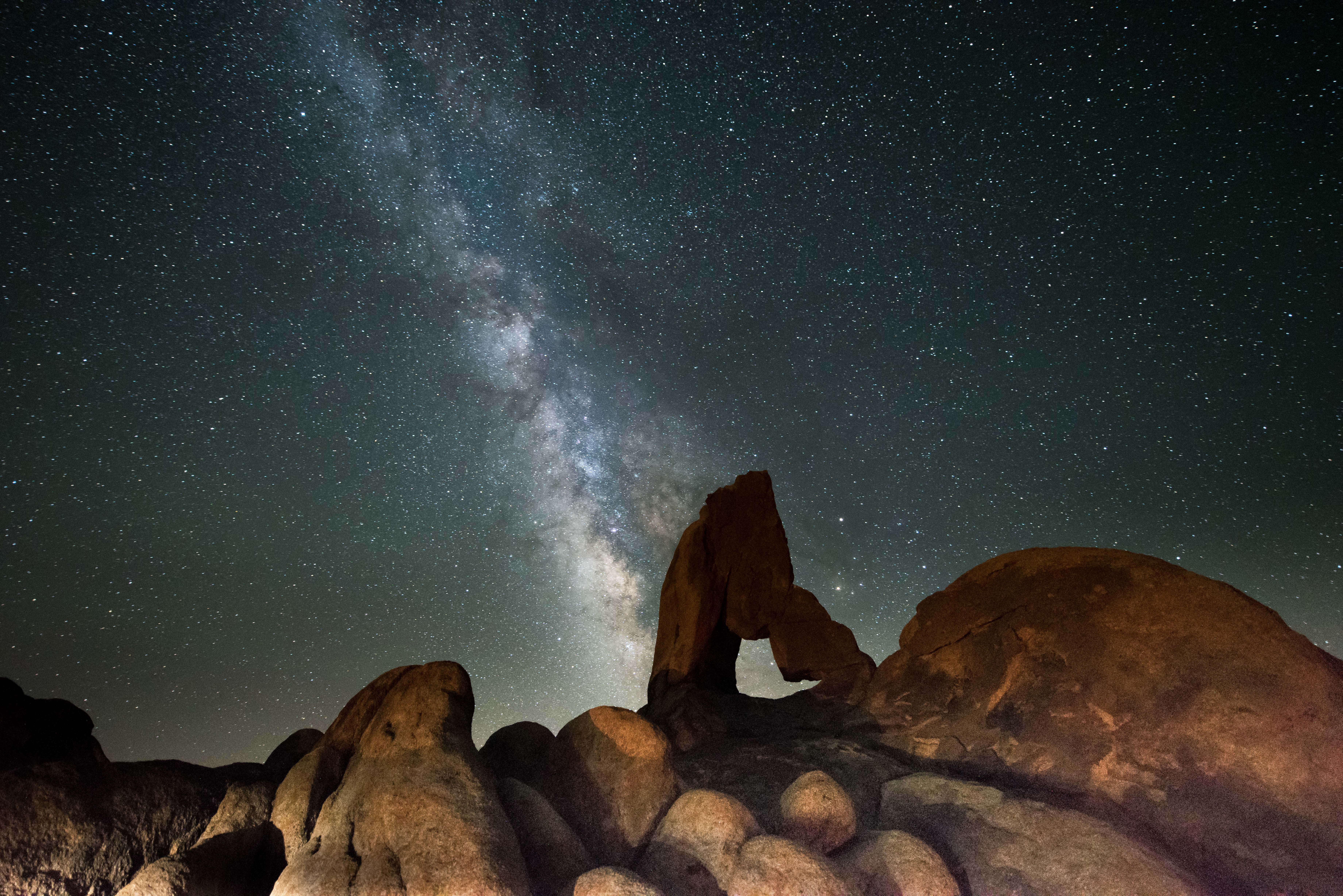The Milky Way in the Alabama Hills