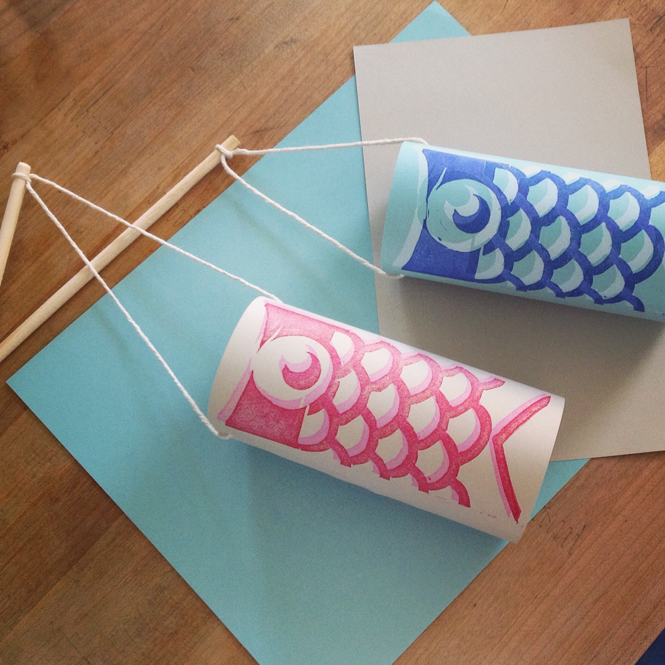 Learn the Basics of Linocut Stamping: Make a Simple Wind Sock