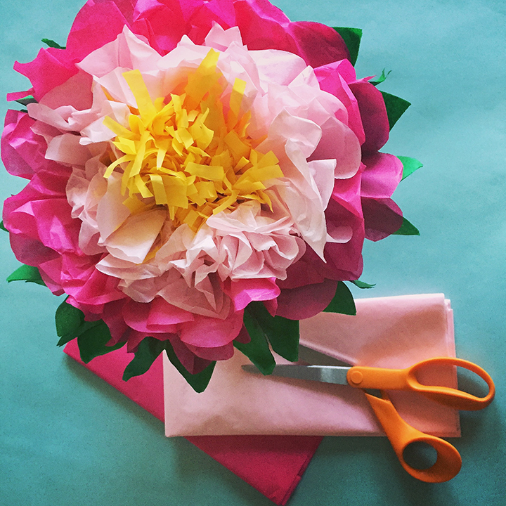 How to make a tissue paper flower a dazzling tutorial maharflowers11 mightylinksfo